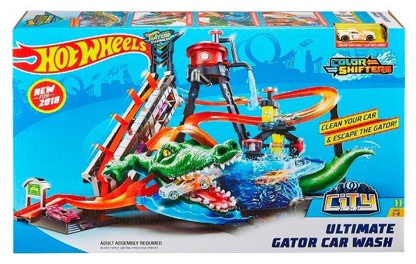 Трек Hot Wheels City Ultimate Gator Car Wash FTB67 — купить по выгодной цене на Яндекс.Маркете