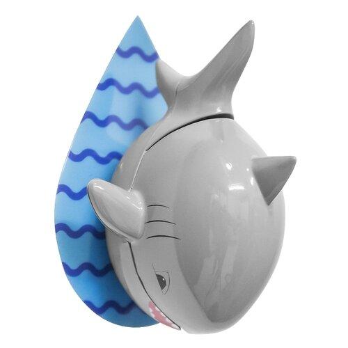 Держатель balvi Shark для зубной щётки серый/голубой держатель для зубной пасты и щеток balvi kitty