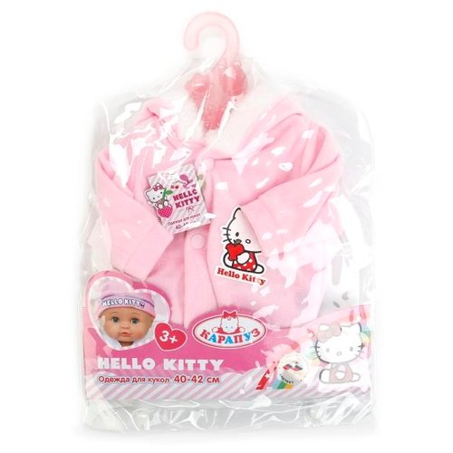 Купить Карапуз Hello Kitty Теплый комбинезон для кукол 40 - 42 см B1226773 розовый, Одежда для кукол