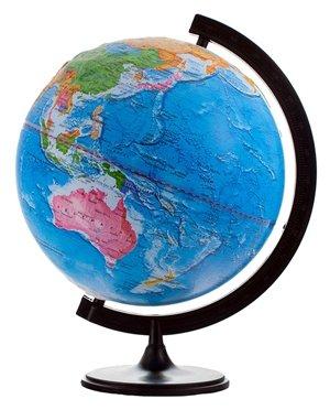 Глобус политический рельефный Глобусный мир, 32см, на круглой подставке (арт. 185790)