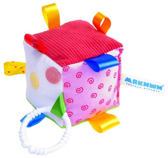 Подвесная игрушка Мякиши Кубик с петельками (264)