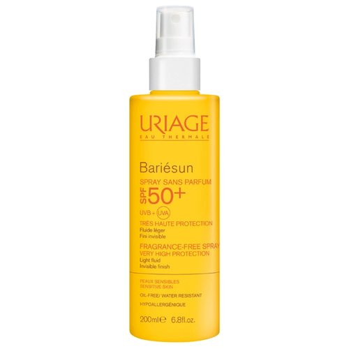 Uriage Bariesan солнцезащитный спрей без ароматизаторов SPF 50 200 мл uriage bariesun fragrance free spray spf50 спрей без ароматизаторов 200 мл