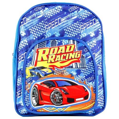 Купить Играем вместе Дошкольный рюкзак Гонки большой с передним карманом (PBP18-DRIVE) синий, Рюкзаки, ранцы