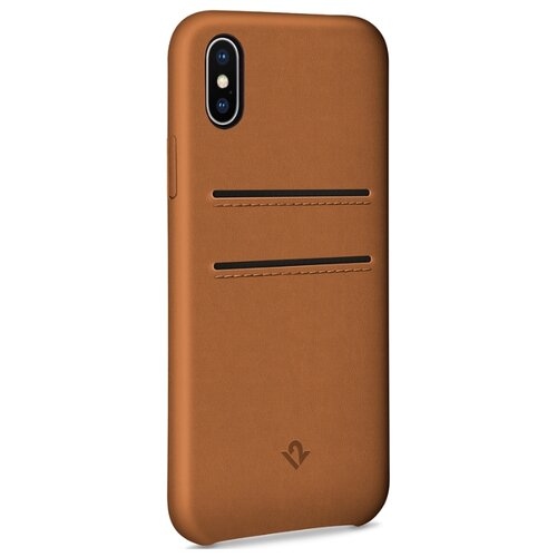 Чехол twelve south Relaxed Leather X для Apple iPhone X cognacЧехлы<br>