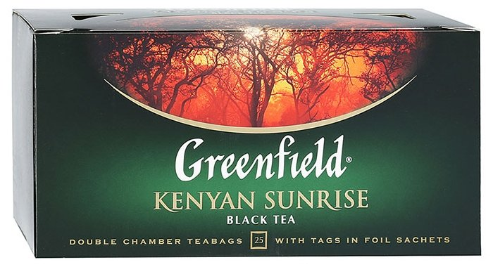 Чай черный Greenfield Kenyan Sunrise в пакетиках, 100 шт.