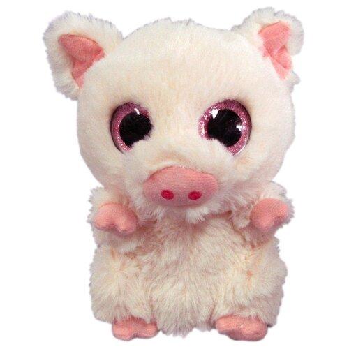 Купить Мягкая игрушка Yangzhou Kingstone Toys Свинка светло-розовая 15 см, Мягкие игрушки