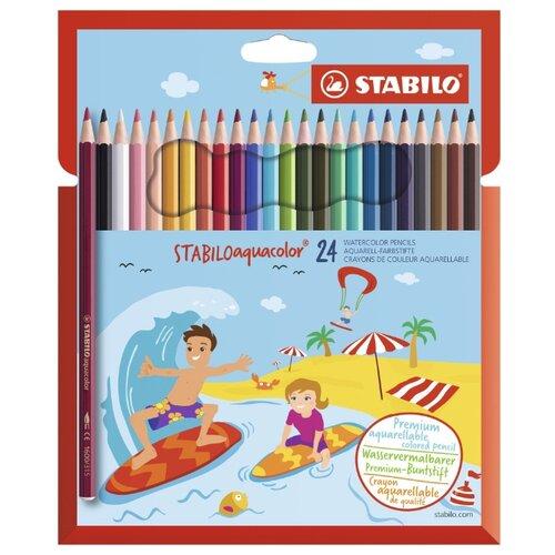 STABILO Акварельные карандаши Aquacolor 24 цвета (1624-6)Цветные карандаши<br>