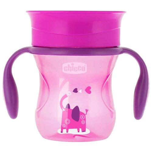 Поильник Chicco Perfect Cup, 266 мл розовый/слон