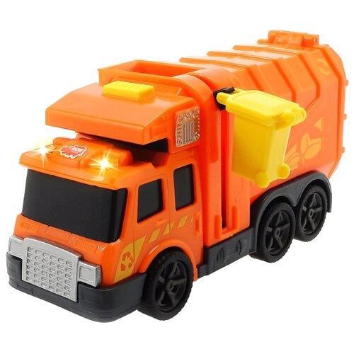 Купить Мусоровоз Dickie Toys 3302000 15 см оранжевый, Машинки и техника