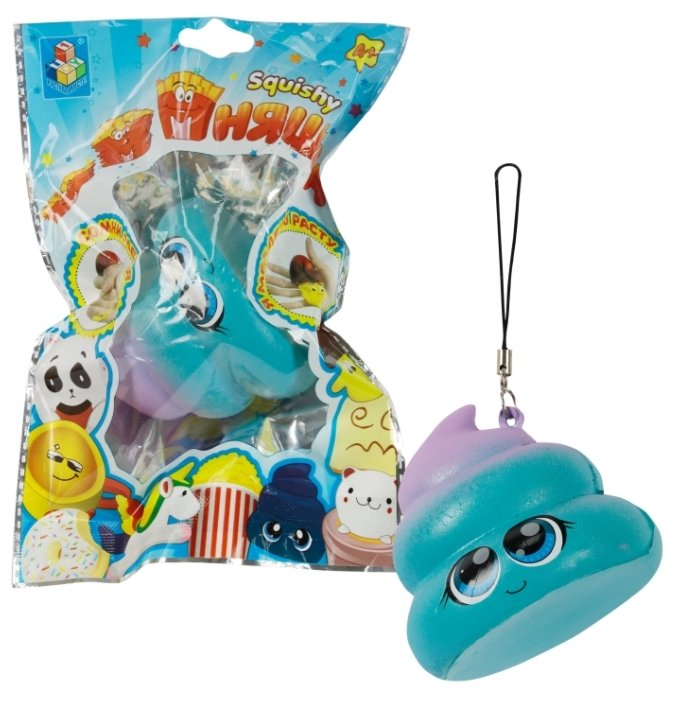 Игрушка-мялка 1 TOY Разноцветный какаш Т12427