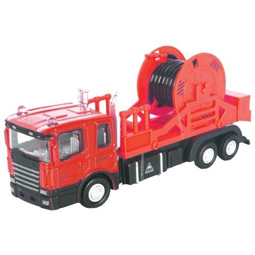 Купить Грузовик Autogrand Junior Motors Mechanic Truck с катушкой (34133) 1:48 красный, Машинки и техника
