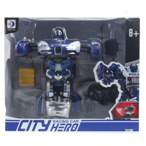 Купить Робот-трансформер Shantou Gepai Полиция 200019855 серо-синий, Роботы и трансформеры