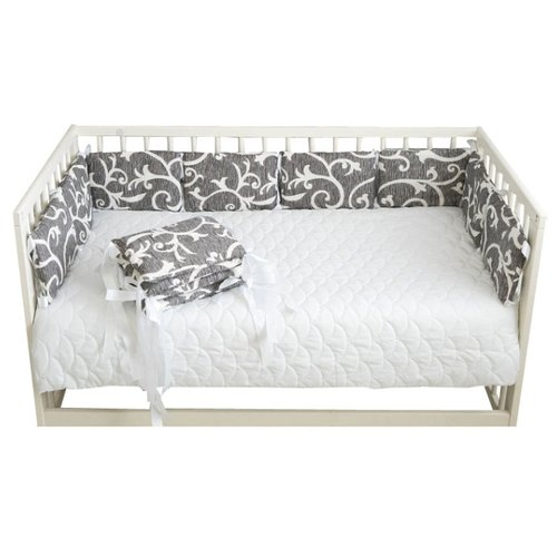 Body Pillow бортик в кроватку Вензеля серо-белыйПостельное белье и комплекты<br>