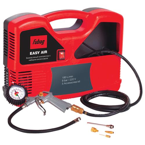 Компрессор безмасляный Fubag Easy Air + набор из 5 предметов, 1.1 кВт