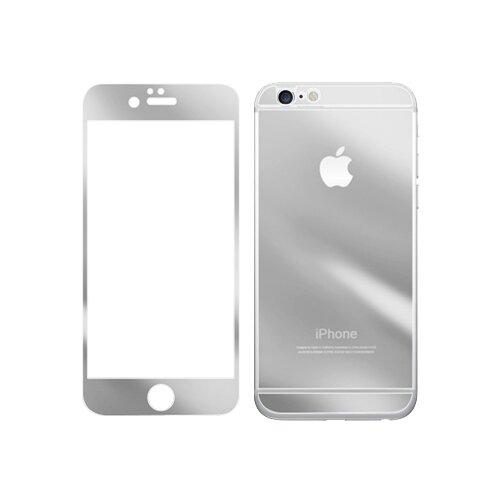 Защитное стекло CaseGuru зеркальное Front & Back для Apple iPhone 6 Plus/6S Plus Logo silver защитное стекло caseguru для apple iphone 6 6s silver logo