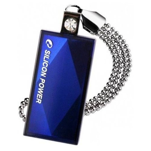 Фото - Флешка Silicon Power Touch 810 64Gb синий usb флешка silicon power touch t03 64gb silver sp064gbuf2t03v1f usb 2 0 15 мб с 8 мб с