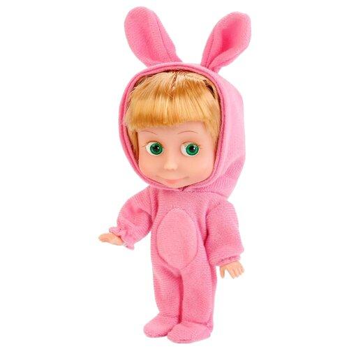Купить Интерактивная кукла Карапуз Маша и Медведь Маша, в костюме зайца, 15 см, 83030EAS (30), Куклы и пупсы