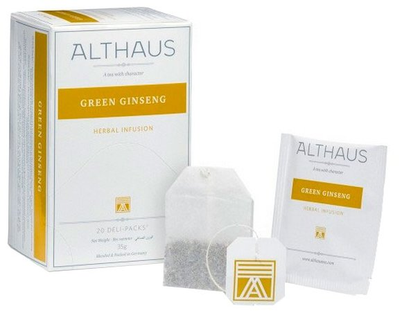 Чайный напиток травяной Althaus Green Ginseng в пакетиках