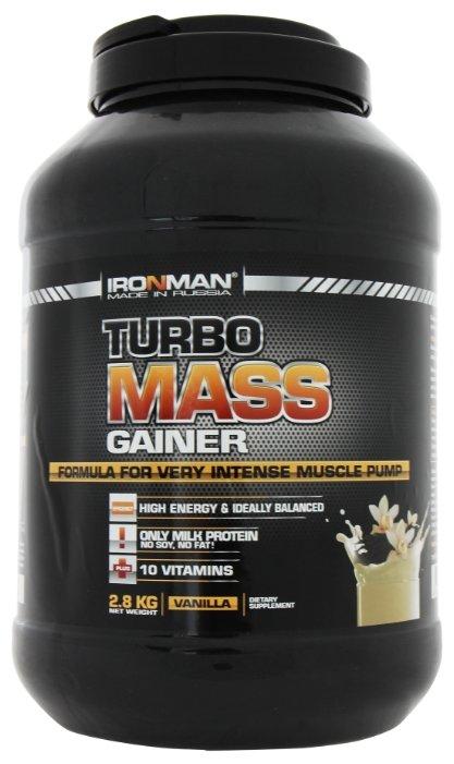 Гейнер IRONMAN Turbo Mass Gainer (2.8 кг) в банке