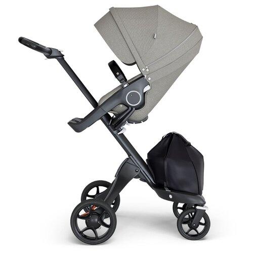 Купить Прогулочная коляска Stokke Xplory V6, brushed grey/black/black, цвет шасси: черный, Коляски