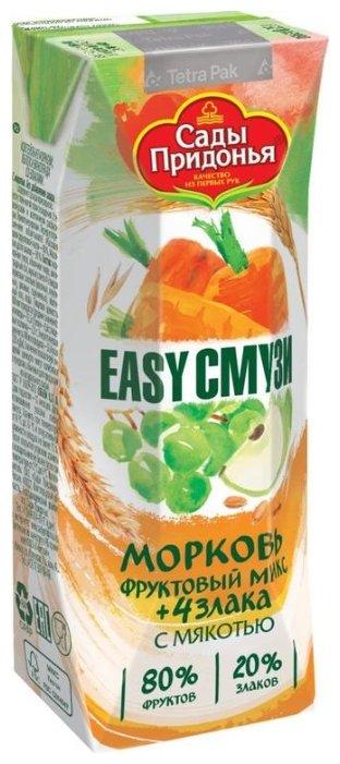 Коктейль Сады Придонья из моркови, яблок и винограда со злаками 0,25л