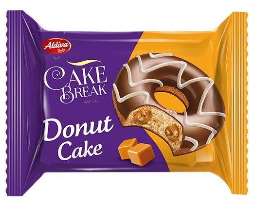 Aldiva пончик Cake break с карамельным кремом в шоколадной глазури