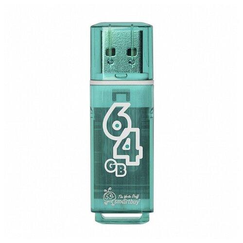 Фото - Флешка SmartBuy Glossy USB 2.0 64GB изумрудный флешка smartbuy wild series owl