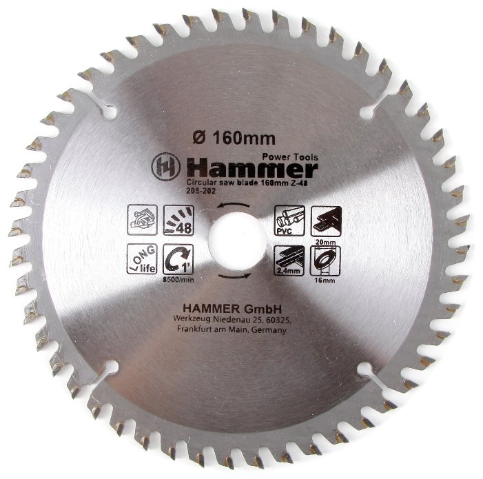 Пильный диск Hammer Flex 205-202 CSB PL 160х20 мм