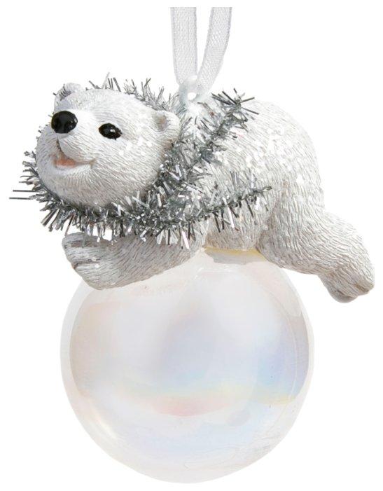 Елочная игрушка Magic Time Мишка на шаре (78169)