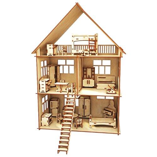 Сборная модель ХэппиДом Коттедж с мебелью (HK-D002)Сборные модели<br>
