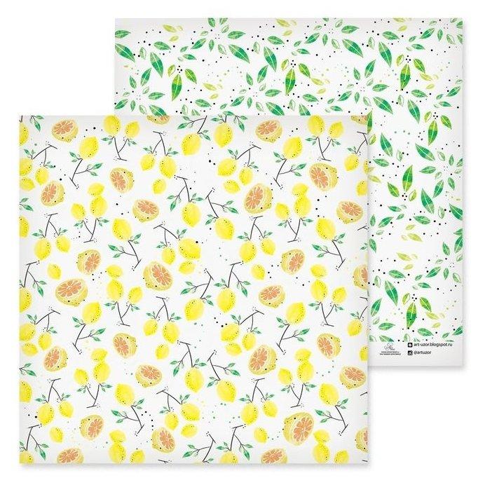 Бумага Арт Узор 30.5x30.5 см, 1 лист, Цитрусовый сад