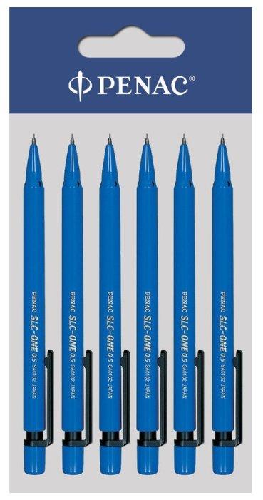 Penac Набор SLC-ONE HВ, 0.5 мм, 6 механических карандашей, 12 сменных грифелей