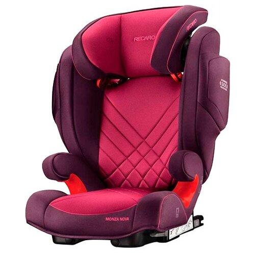 Автокресло группа 2/3 (15-36 кг) Recaro Monza Nova 2 SeatFix, Power Berry автокресло recaro monza nova evo seatfix гр 2 3 расцветка racing red