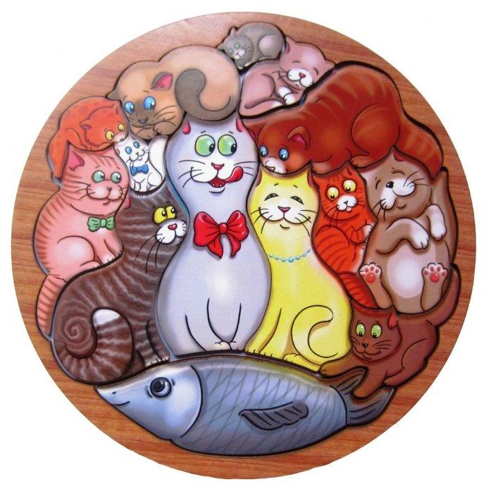 Рамка-вкладыш Smile Decor Коты (П014), 14 дет.