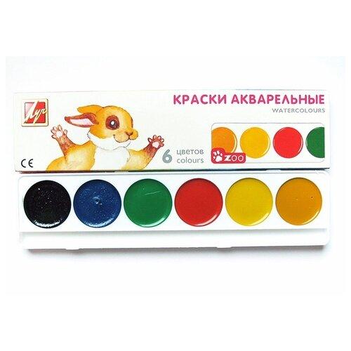 Купить Луч Акварельные краски Zoo 6 цветов, без кисти (19С 1246-08), Краски