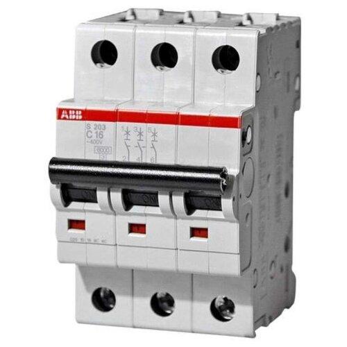 Автоматический выключатель ABB S203 3P (C) 6kA 63 А