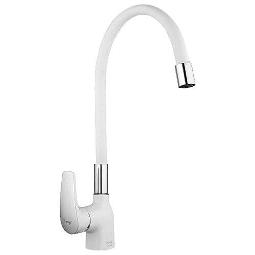 Смеситель для кухни (мойки) Frap F4453 однорычажный белый/хром смеситель для кухни мойки frap f4321 5 однорычажный