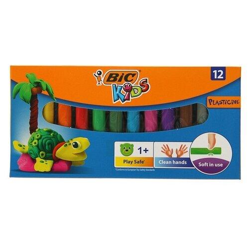 Пластилин BIC Kids 12 цветов, 140 г (947713)Пластилин и масса для лепки<br>