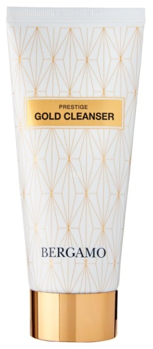 Bergamo пенка для лица очищающая с золотом