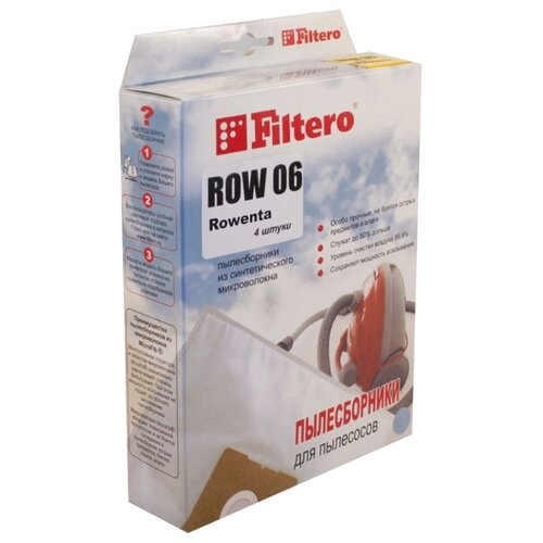 Filtero Мешки-пылесборники ROW 06 Экстра 4 шт. мешок filtero row 05 экстра