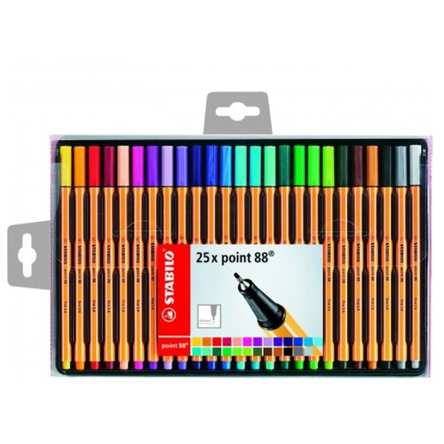 STABILO Набор капиллярных ручек point 88 25 цветов, 0.4 мм (8825-1)