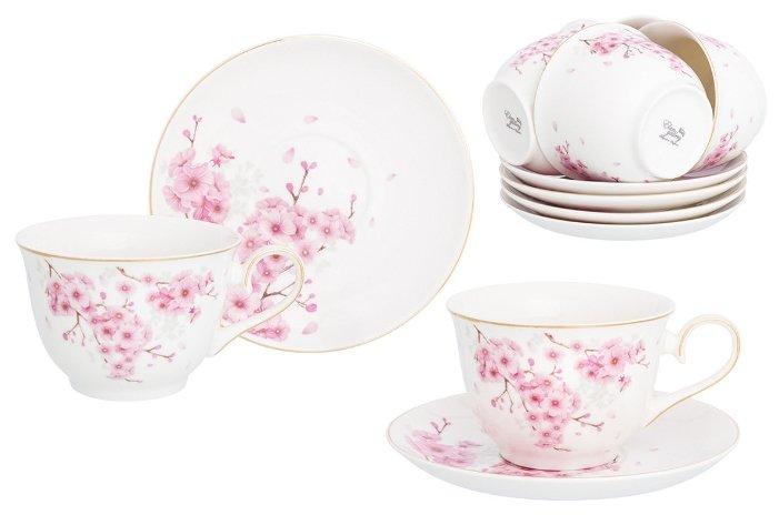 Чайный сервиз Elan gallery Цветущая сакура