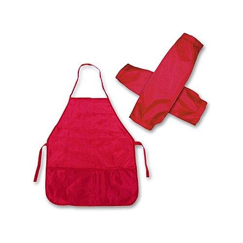 Купить Проф-Пресс Фартук с нарукавниками (ФН-8089) красный, Одежда для уроков труда