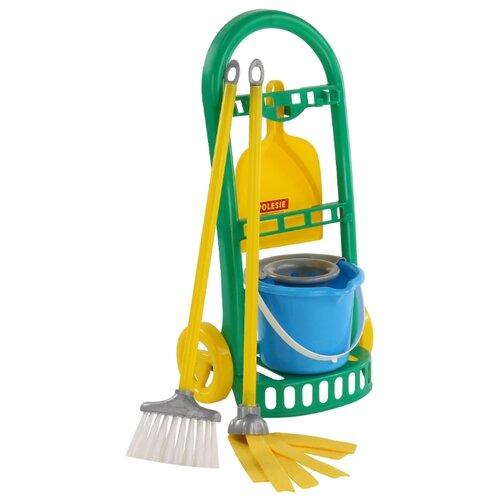 Купить Набор Palau Toys Чистюля-мини 69832 желтый/зеленый/голубой, Детские кухни и бытовая техника