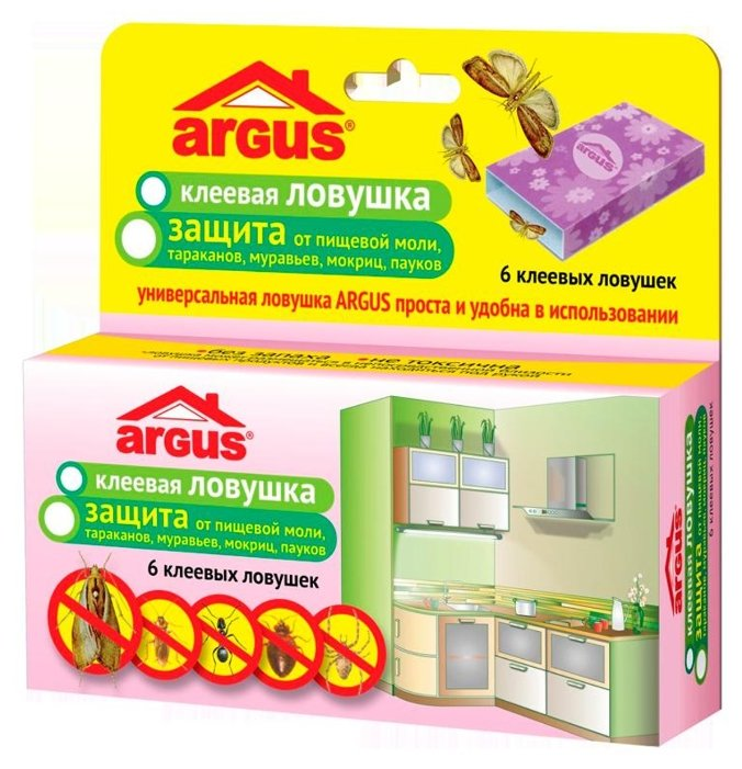 Ловушка ARGUS от пищевой моли, тараканов, муравьев, мокриц, пауков