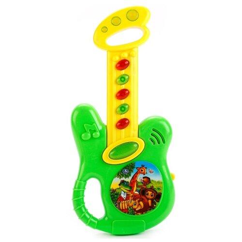 Купить Умка гитара B1579623-R зеленый/желтый, Детские музыкальные инструменты