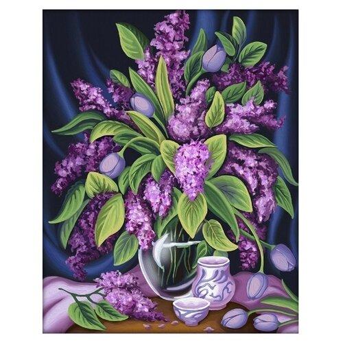 Алмазная живопись Набор алмазной вышивки Роскошная сирень (АЖ-1629) 40х50 см