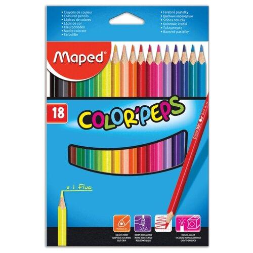 Купить Maped Цветные карандаши Color Pep's 18 цветов (183218)