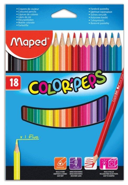 Maped Цветные карандаши Color Pep's 18 цветов (183218)