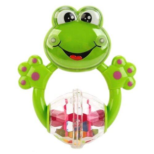 Фото - Погремушка Умка Лягушка с шариками B1680103-R-D1 зеленый развивающая игрушка погремушка лягушка с шариками умка